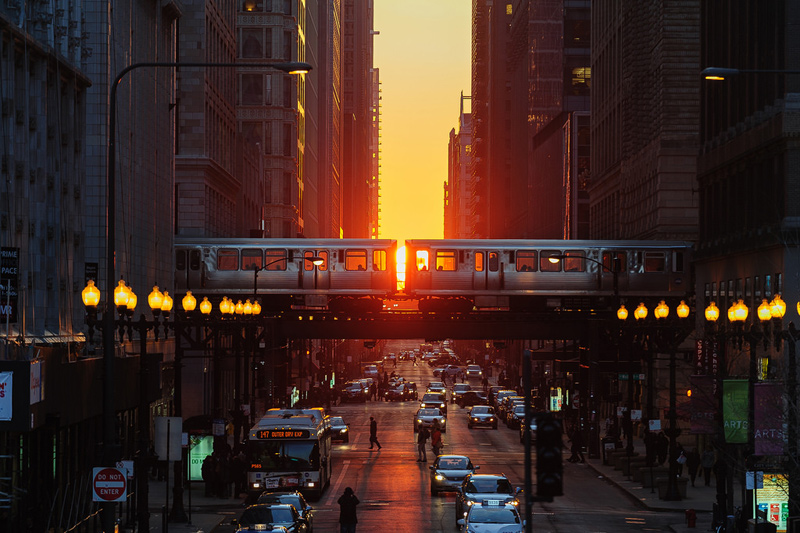 spring equinox in chicago chicagohenge by nixerkg Picture of the Day: Spring Equinox in Chicago