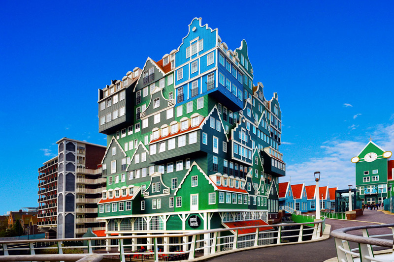 the stacked house hotel in zaandam netherlands inntel hotel1 The Top 25 Pictures of the Day of 2014