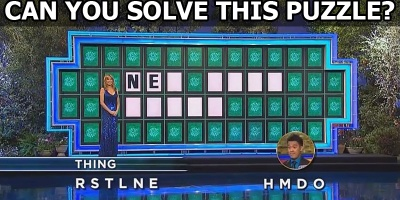 Guy Solves Impossible Wheel of Fortune Puzzle in One Guess. Wins $45K