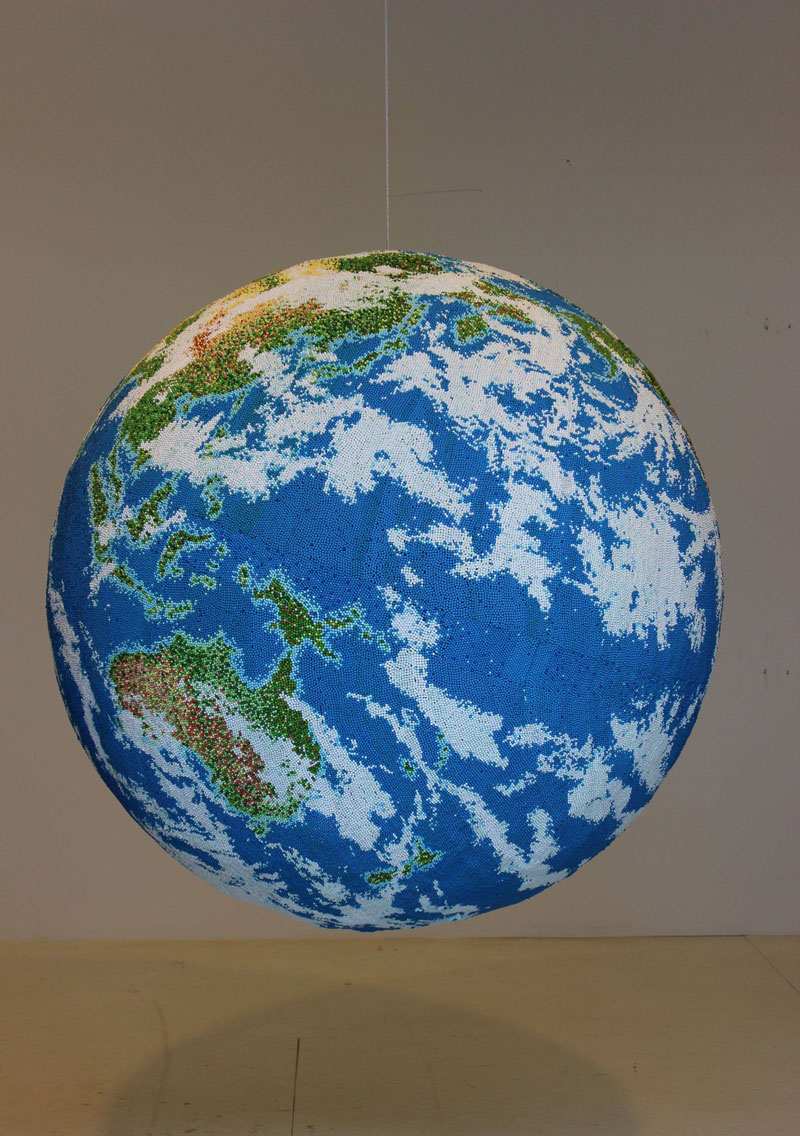 world globe made from matches by andy yoder (1)