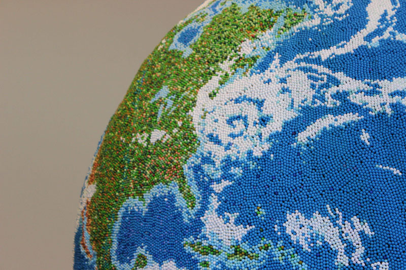 world globe made from matches by andy yoder (10)