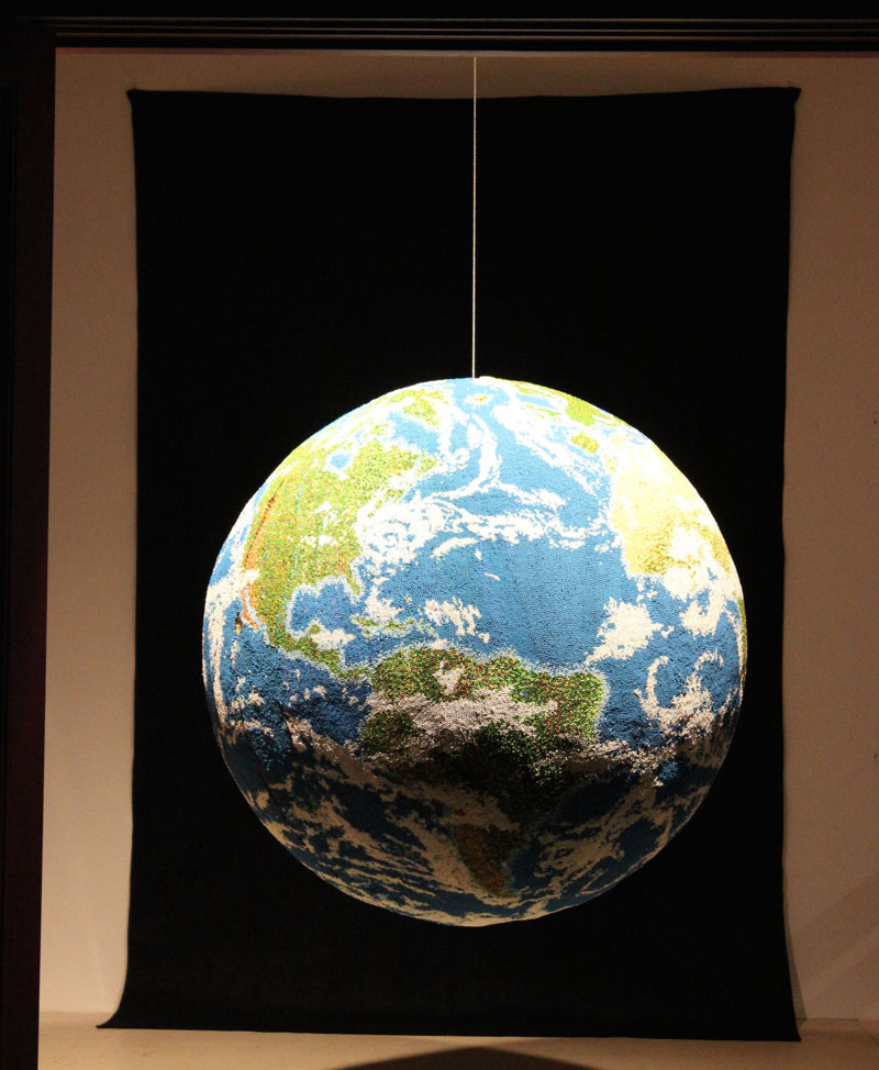 world globe made from matches by andy yoder (13)