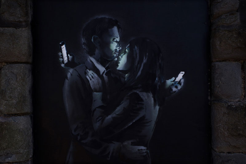 banksy mobile lovers Banksy Unveils Two New Artworks