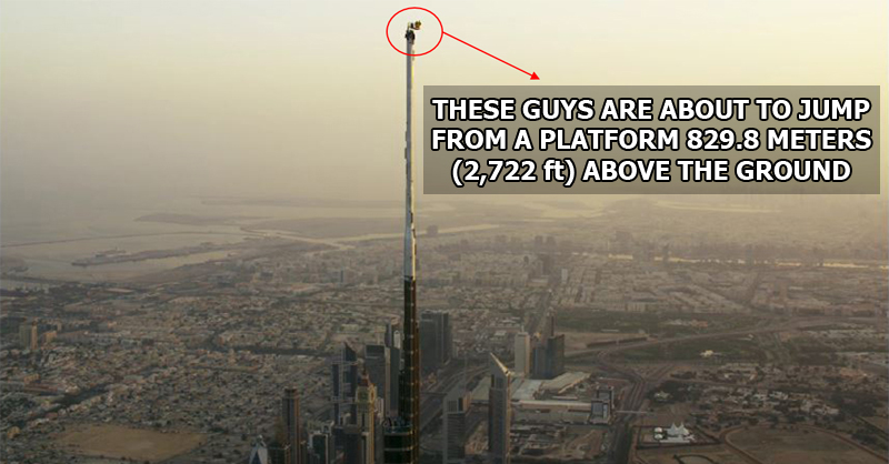 These Guys Just BASE Jumped from the Very Top of the World's Tallest Building