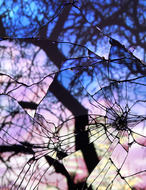 Broken-Mirror-Evening-Sky-(Cibachrome)_web by bing wright