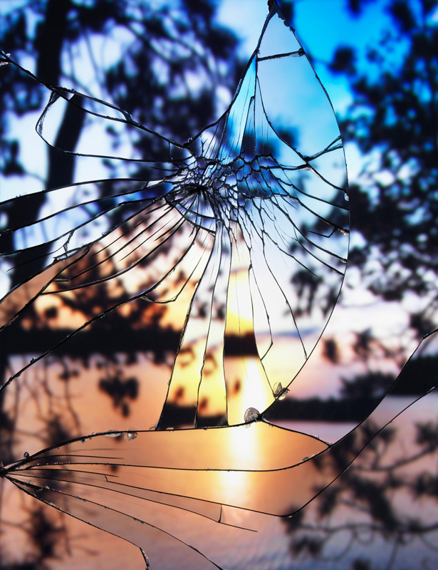 Broken-MIrror_Evening-Sky(Agfachrome) by bing wright