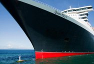 Standing on the Bulbous Bow of the World's Largest Ocean Liner