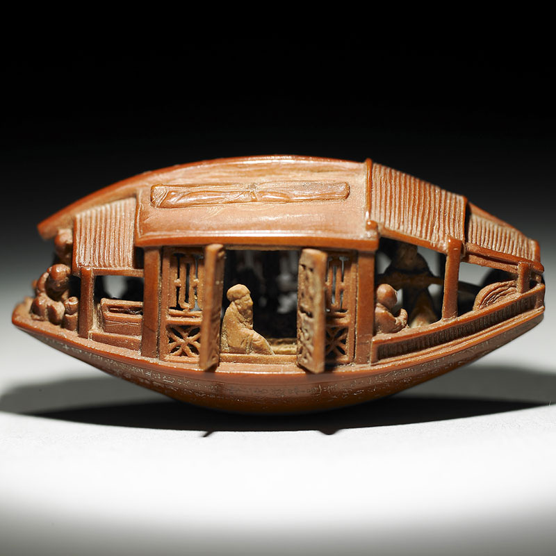 carved olive pit from 1737 by chen tsu chang chiing dynasty 1 Hand Carved Skulls Into Mother of Pearl Shells