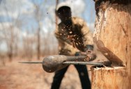 Picture of the Day: When Axe Meets Wood