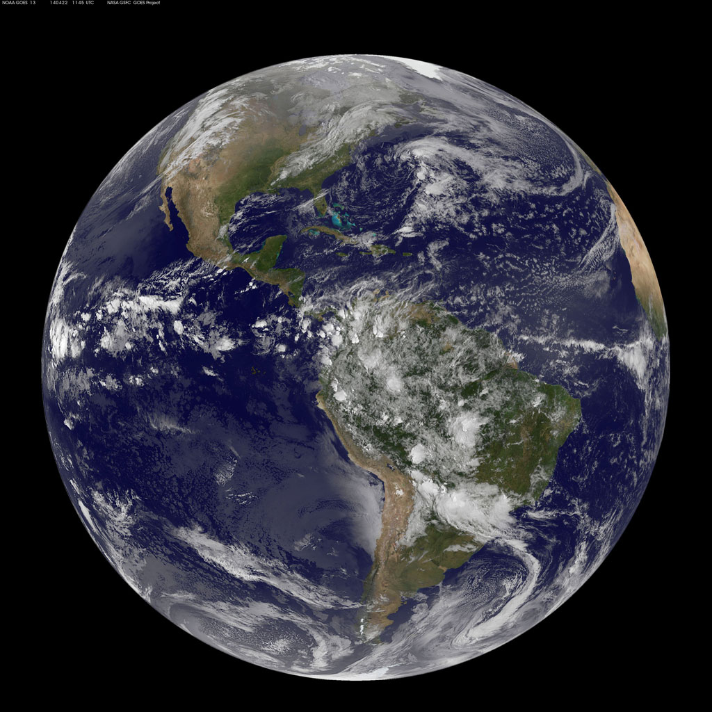 EARTH FROM SPACE ON EARTH DAY 2014 NASA