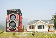 This Gigantic Two-Story Camera is Actually a Coffee Shop