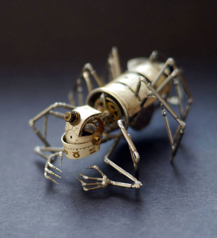 insects made from watch parts and discarded objects by justin gershenson-gates a mechanical mind (1)
