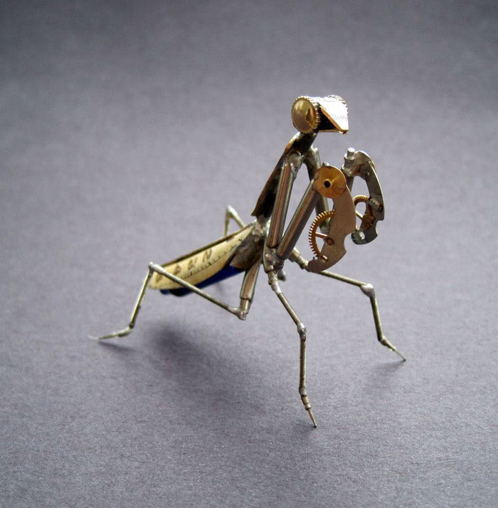 insects made from watch parts and discarded objects by justin gershenson-gates a mechanical mind (2)