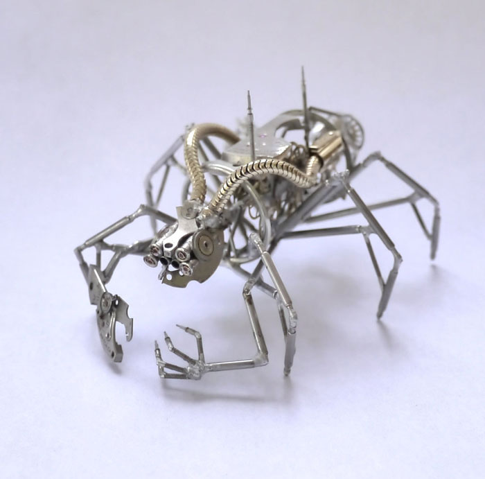 insects made from watch parts and discarded objects by justin gershenson-gates a mechanical mind (5)