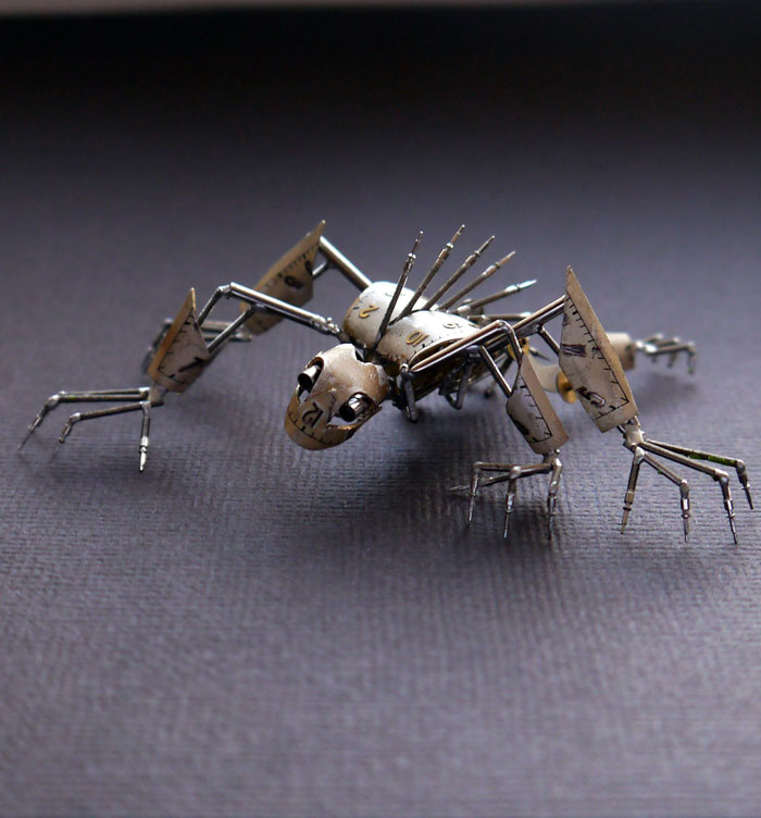 insects made from watch parts and discarded objects by justin gershenson-gates a mechanical mind (8)