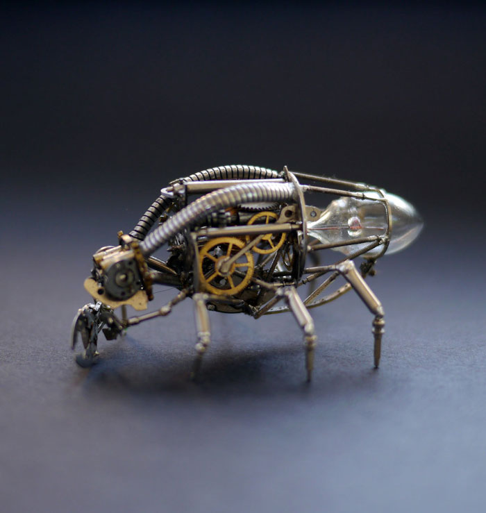 insects made from watch parts and discarded objects by justin gershenson-gates a mechanical mind (9)