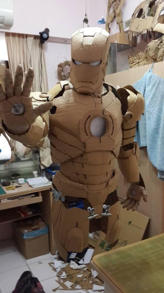 ironman suit made of cardboard by kai-xiang xhong (11)