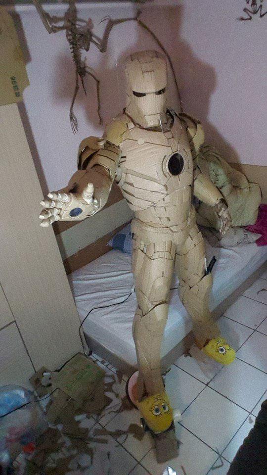 ironman suit made of cardboard by kai-xiang xhong (13)
