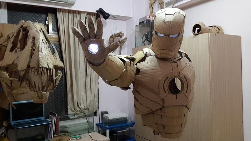ironman suit made of cardboard by kai-xiang xhong (5)
