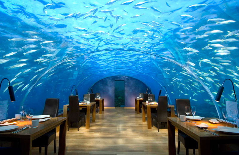ithaa underwater restaurant conrad maldives rengali island resoirt 3 18 Conversation Pits Worth Talking About