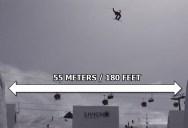 Jesper Tjader Double Backflips Over 180 ft Wide Halfpipe