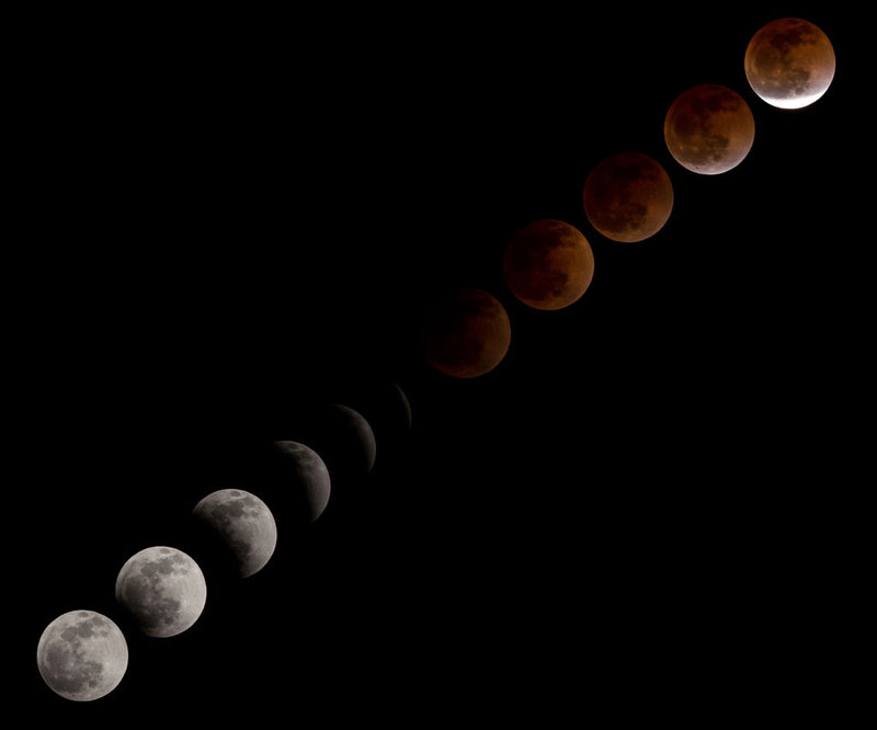 multiple exposure blood moon composite Picture of the Day: The Multiple Exposure Blood Moon
