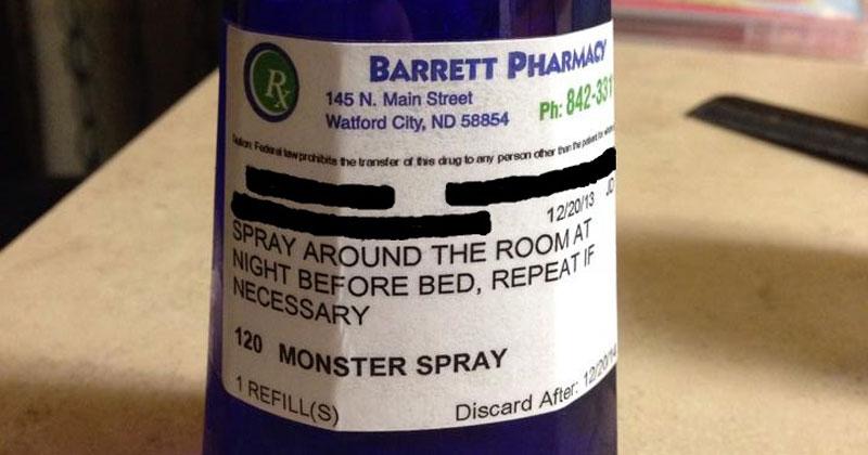 Pharmacy Prescribes Monster Spray to Little Girl Scared of the Dark (2)