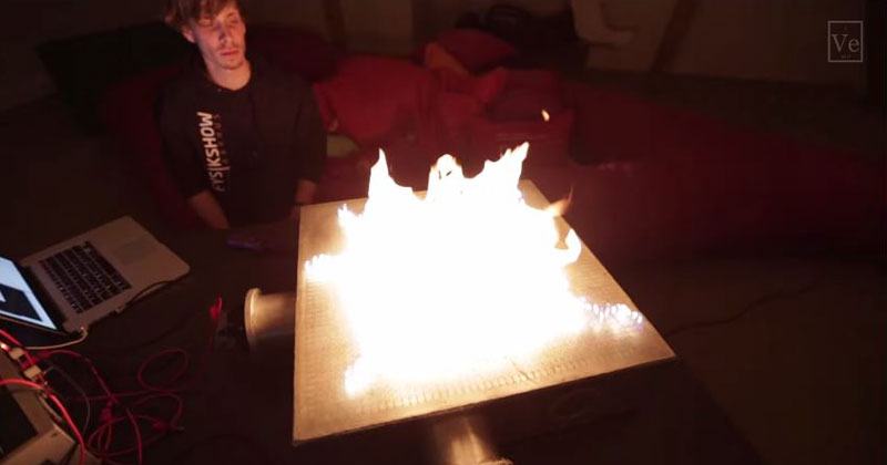 These Guys Made a Music Visualizer with 2,500 Individual Gas Flames