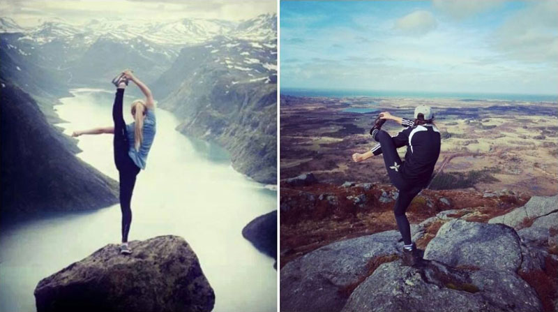 recreate yoga pose at top of mountain The Shirk Report   Volume 263