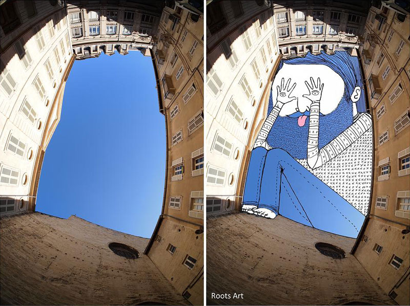 sky art drawings by thomas lamadieu roots art 6 This Artist Splits Two Photos in Half and Combines the Results