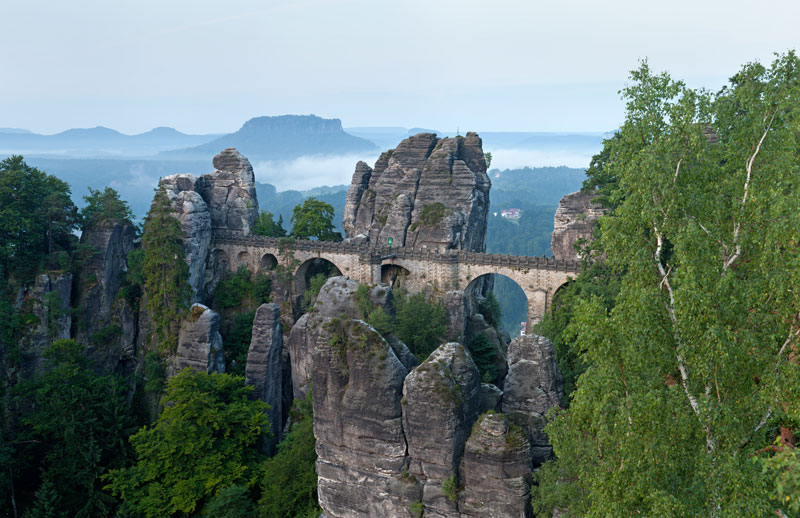 the bastei bridge elbe river sandstone mountains germany Picture of the Day: Bastei Bridge, Germany