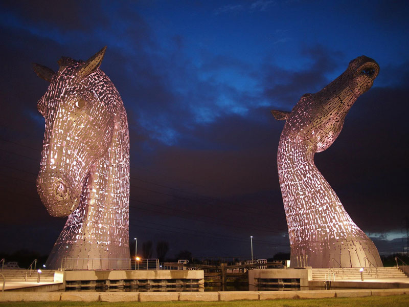 the kelpies giant horse-head sculptures the helix, scotland by andy scott (2)