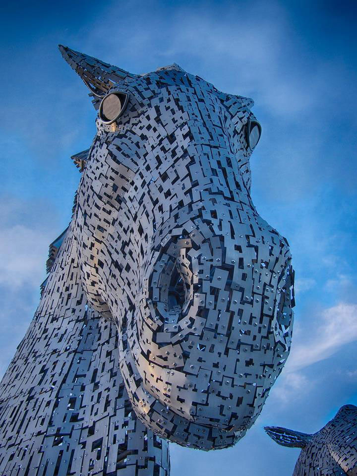 the kelpies giant horse-head sculptures the helix, scotland by andy scott (6)