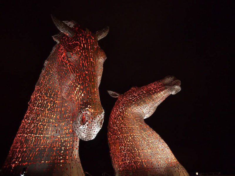 the kelpies giant horse-head sculptures the helix, scotland by andy scott (9)