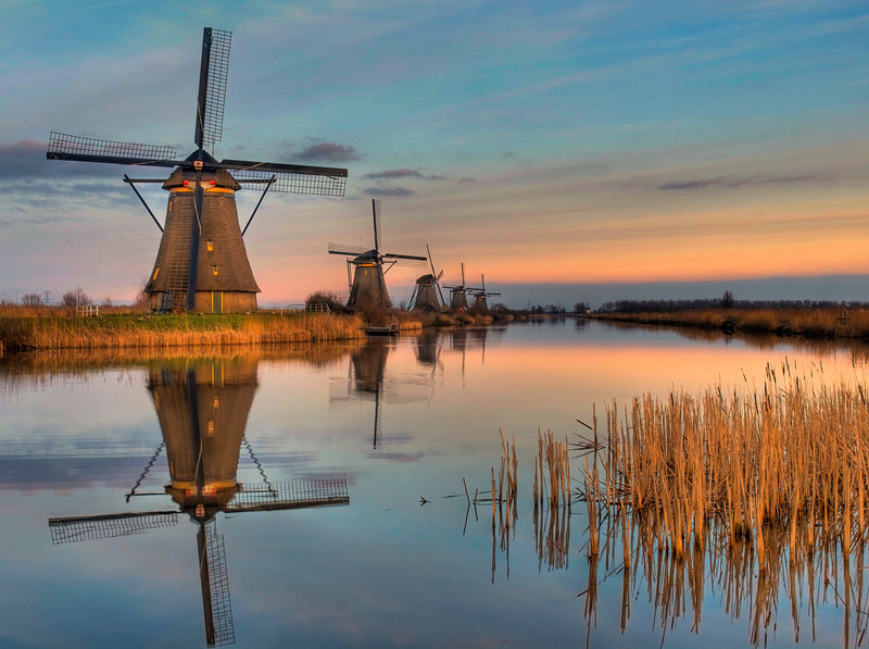 Picture of the Day: The Ancient Windmills of Kinderdijk