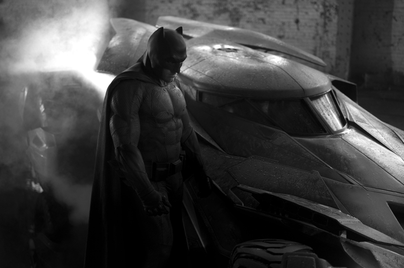 batfleck and batmobile zack snyder man of steel 2