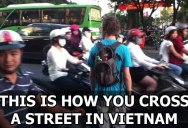 The Art of Street Crossing in Vietnam