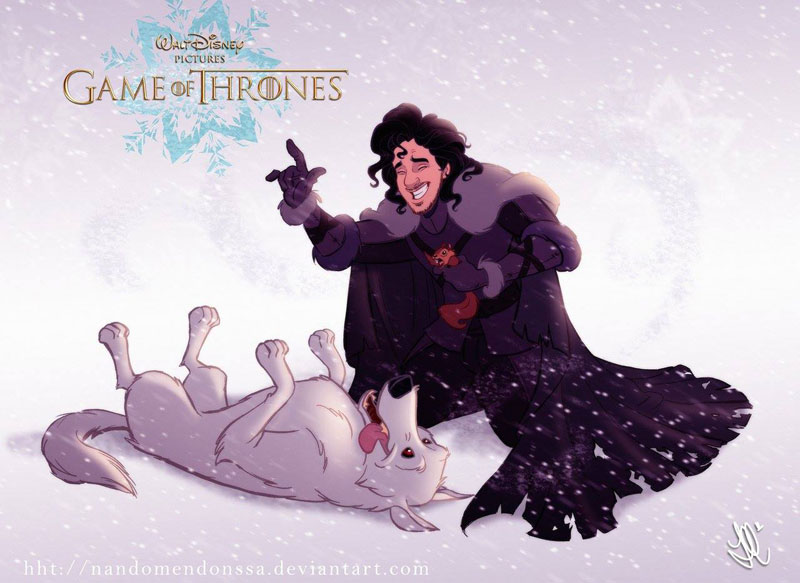 if game of thrones were drawn by disney (1)