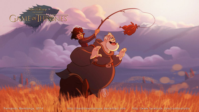 if game of thrones were drawn by disney (4)
