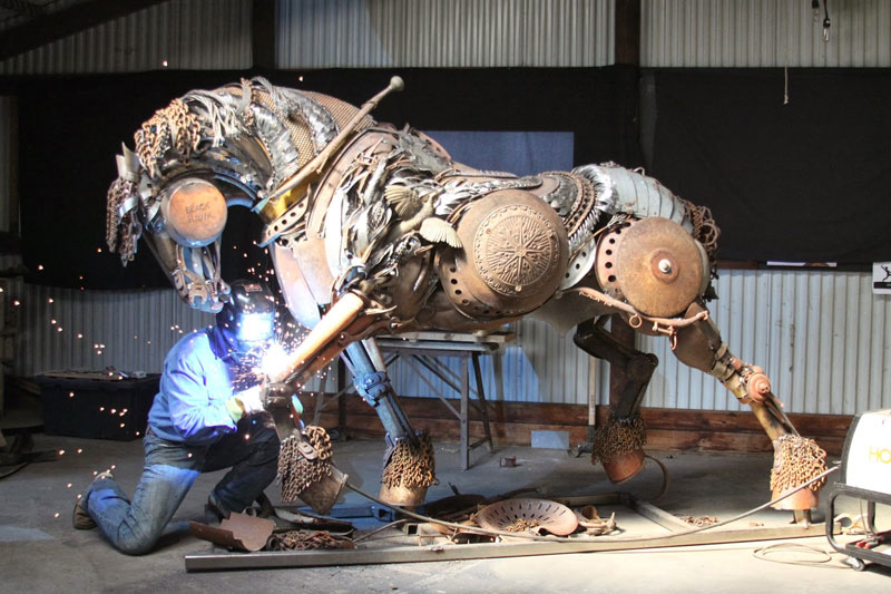scrap metal stallion by john lopez (1)