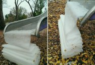 Picture of the Day: A Thin Sheet of Snow Neatly Folding Over Itself