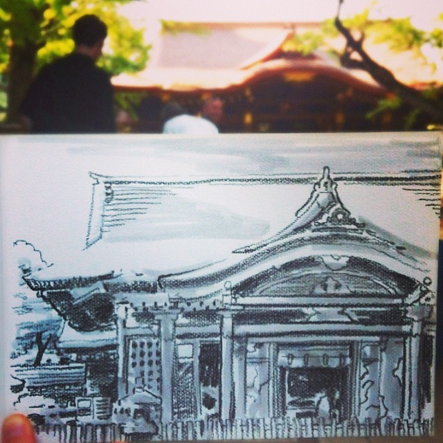 speed sketches of everyday scenes by hama house (10)