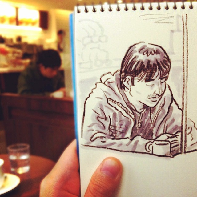 speed sketches of everyday scenes by hama house (11)