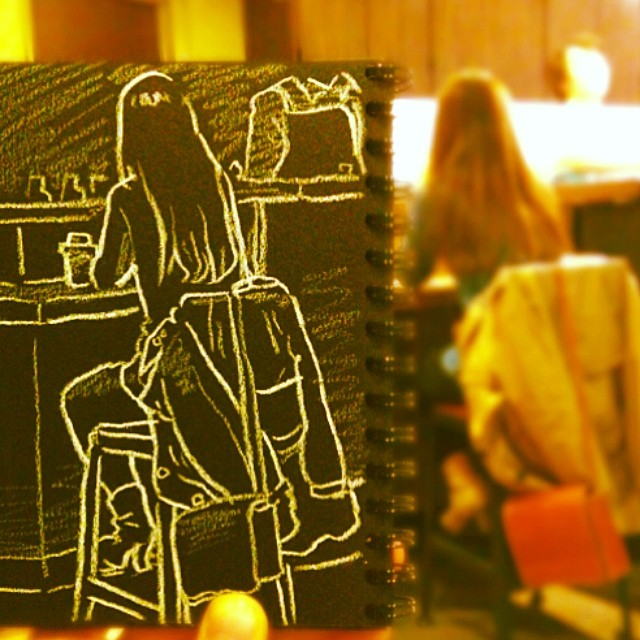 speed sketches of everyday scenes by hama house (2)