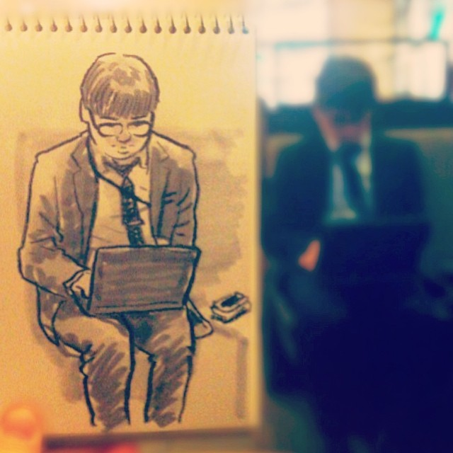speed sketches of everyday scenes by hama house (3)