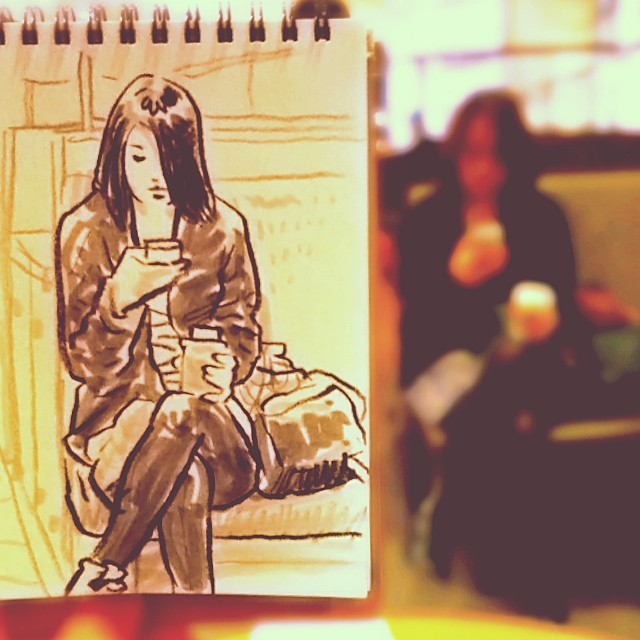 speed sketches of everyday scenes by hama house (4)