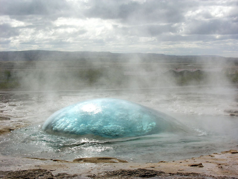 Picture of the Day: Strokkur Geyser on the Verge of Eruption