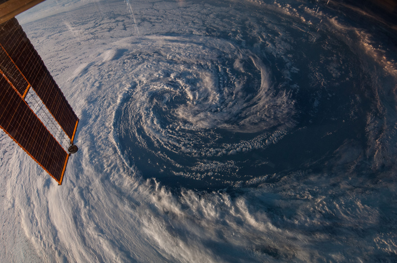 swirling storm from space iss nasa Picture of the Day: A Swirling Storm from Space