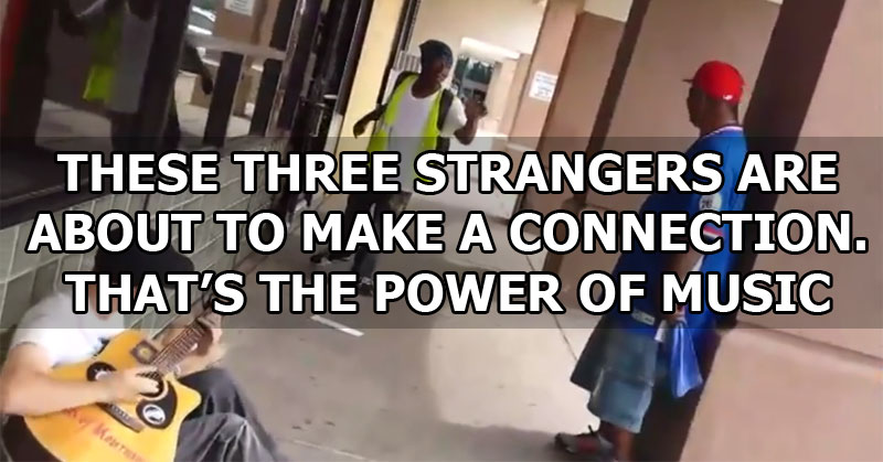This Guy Was Just Playing His Guitar When Two Strangers Joined In and Made Something Beautiful