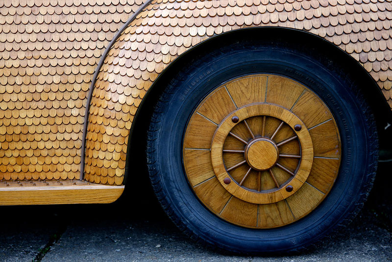 wooden beetle made from 50000 pieces of oak momir bojic bosnia (2)